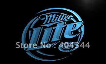 LE016- Miller Lite Beer Displays logos LED Neon Light Sign