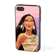 For iphone 4/4s 5/5s 5c SE 6/6s plus ipod touch 4/5/6 back skins mobile cellphone cases cover Pocahontas Princess