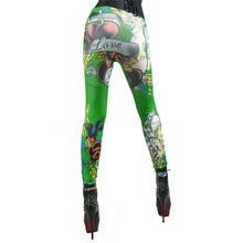 Promotion Stretch Slim Fit Pants Women Leggings Skinny for Girl Fake Jean Floral Print Pattern Ankle