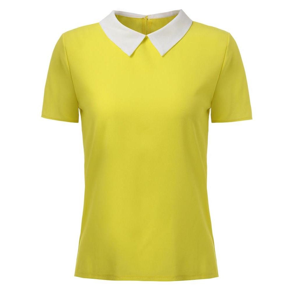 Plus Size S L Polo Femme Brand Short Polo Shirt Women