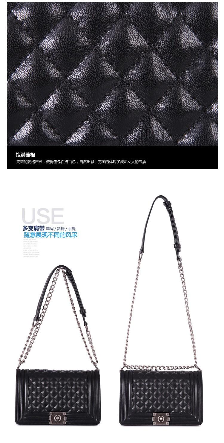 High Quality Women's Messager Bag Brand Le Boy Shoulder Bags Casual Diamond Lattice Bag Women Cross body Bag