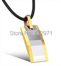 Free Shipping!!Tungsten Germanium 18K Gold Plating Energy Pendant Health Necklace For Men With Energy Magnetic Necklace(China (Mainland))
