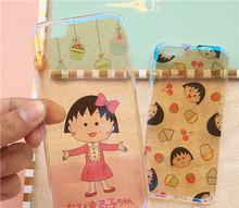 Japan sakura momoko Shinny Blue-ray Soft TPU Skinny Cover Case For iphone6 6s 6plus Skin Case Cellphone Body Protector