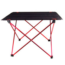 New Aluminium Alloy Portable Folding Table Foldable Picnic Table Desk for Outdoor Camping(China (Mainland))