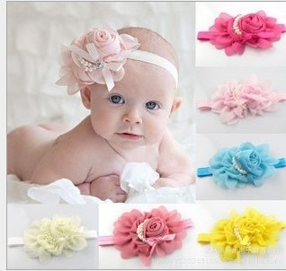 girl pearl headband,10 pcs/lot,baby lace flower hairband - Ningbo Young Bright (FACTORY store Co., Ltd.)