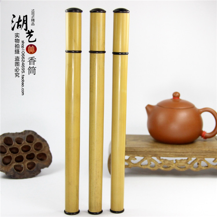 old yellow bamboo pole long joss stick aloes lie xiang xiang cone incense box tube wholesale teachers appliance manufacturer(China (Mainland))