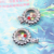 Good Luck charms revolving multicolor crystal flower inlay fashion buckle necklace pendant high quality 30pcs/lot Free shipping