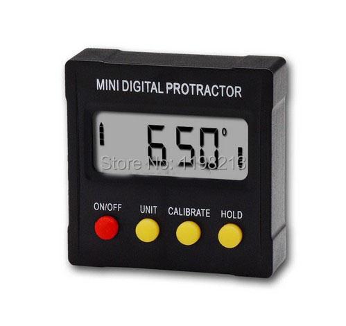 Free shipping! Digital Protractor Inclinometer Angle meter Digital Bevel Box 4 x 90 degree Range + Magnetic Base<br><br>Aliexpress