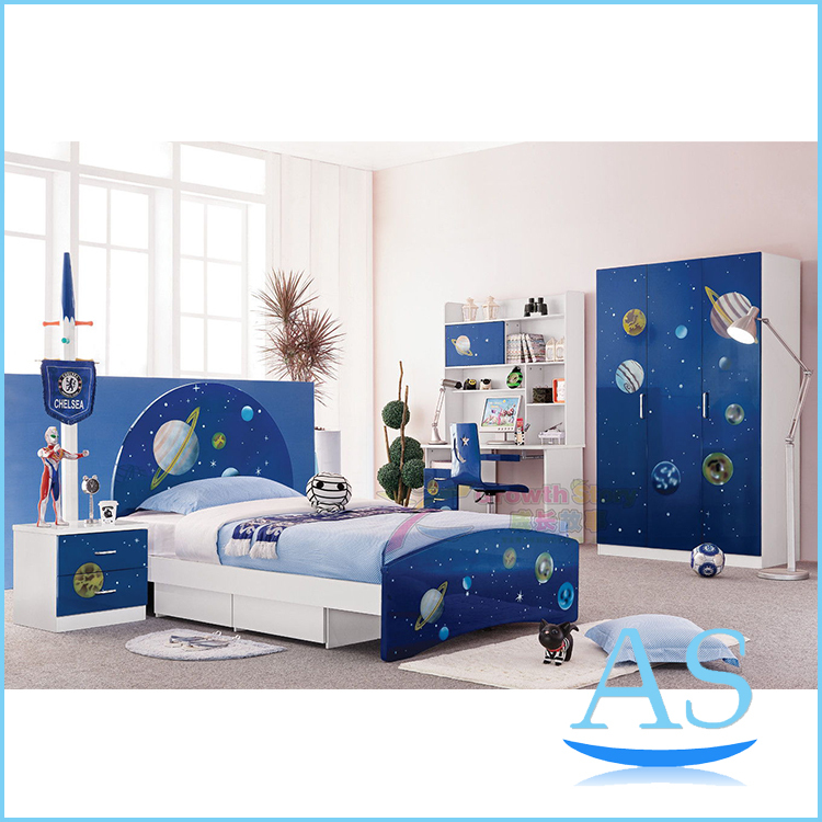 China Hot Sale Kids Bedroom Furniture Children Bedroom Set Bedroom For Boy K321