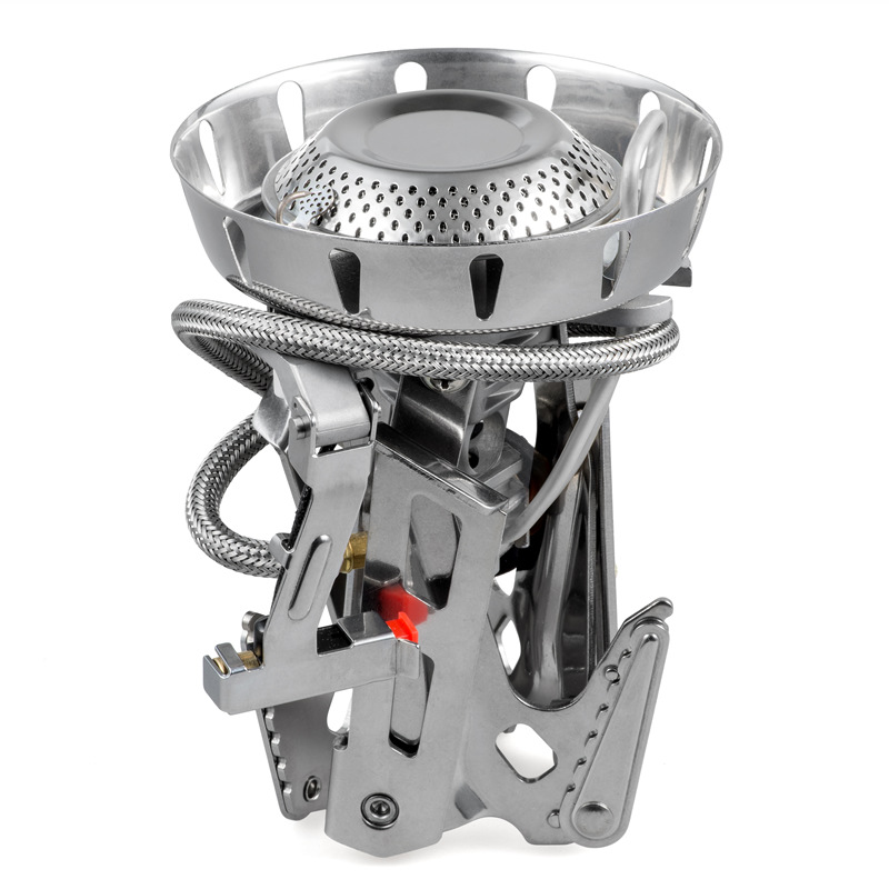 Fire Maple outdoor Windproof stainless steel Gas furnace High mountain chilly camping High Power Split Stove band Preheat tube