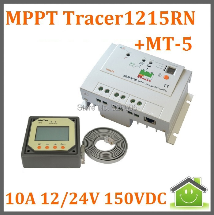 EP SOLAR MPPT Solar Controller/Regulator/Solar Charge Controller 10A 12/24V 150VDC Tracer-1215RN with MT-5 Rmote LCD Display(China (Mainland))