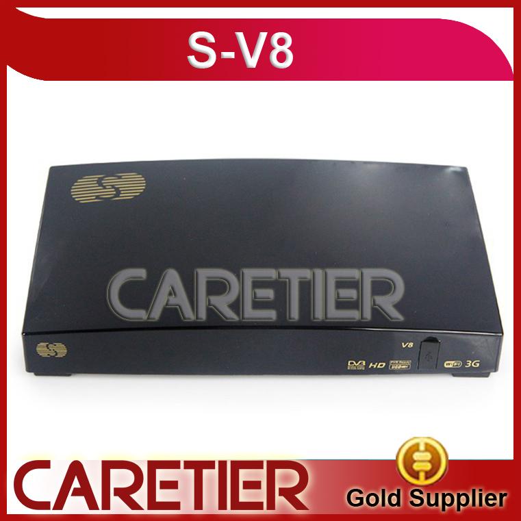 Original S-V8 box V8 HD Satellite Receiver support 2xUSB USB Wifi WEB TV Cccamd Newcamd YouTube free shipping to Russia V8(China (Mainland))