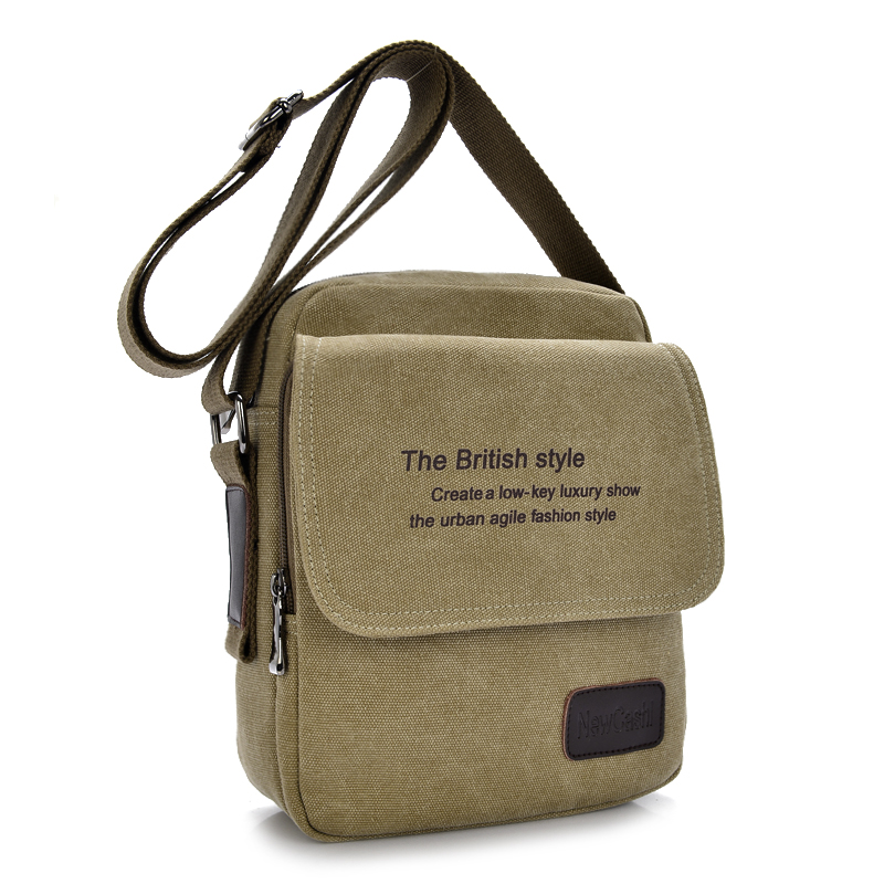 2015 New Men Messenger Bags Canvas Vintage Bag Shoulder Crossbody Man Brown Black Small Designer Handbags Bolso - High-end fashion bags store