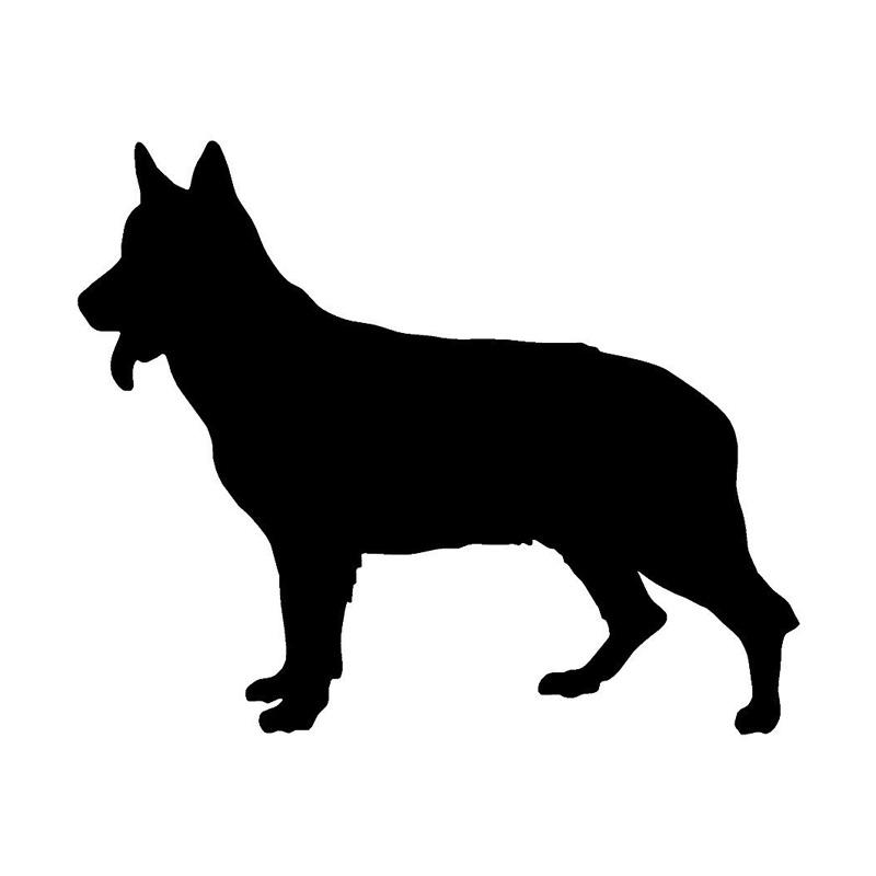 15.5*12.7CM German Shephered Vinyl Dog Decal Stylish Car Cover Scratch Decorative Stickers Black/Silver C6-0232(China (Mainland))