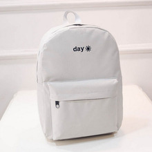 New Hot Women Men Teenagers Student Book bags Back pack Lover Backpack Embroidery School Bag (China (Mainland))