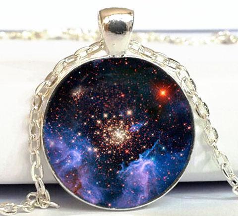 GALAXY Pendant Starburst galaxy Necklace Space universe Art Picture Pendant Handmade Jewelry(China (Mainland))