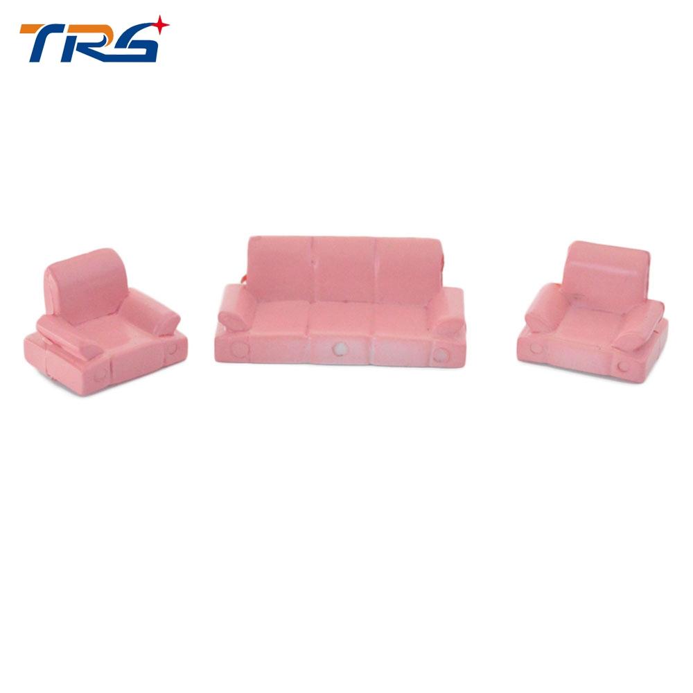 10 sets 1:50 DollHouse MODEL Plastic Sofa Set Diy Construction Sand Table Landscape Scene(China (Mainland))