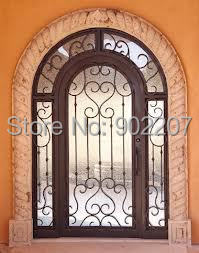 Custom design 7' x 12' Luxury Wrought Iron Entry Double Doors(China (Mainland))