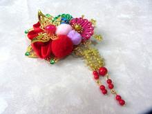 Traditional Chinese Bride Wedding Hair Accessory Bobbles Tassel Classical Hanfu Xiuhefu Hair Clips Hair Making Tool