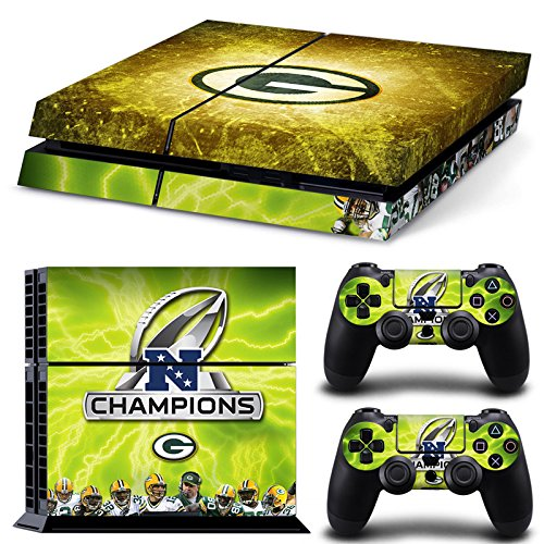 Green Bay Packers Vinyl Decal PS4 Skin Stickers for PlayStation 4 Console and 2 Controllers Decorative Skins(China (Mainland))