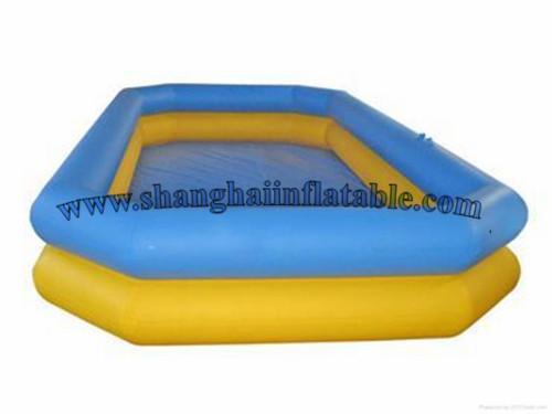 2016Shanghai factory Inflatable PVC tarpaulin pool, swimming pool for sale(China (Mainland))