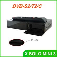 X SOLO MINI3 1200MHz Dual DMIPS HD 1080P Satellite Receiver 4GB Serial Flash 1GB DDR3 with DVB-S2+DVB-T2/C X solo mini 3(China (Mainland))