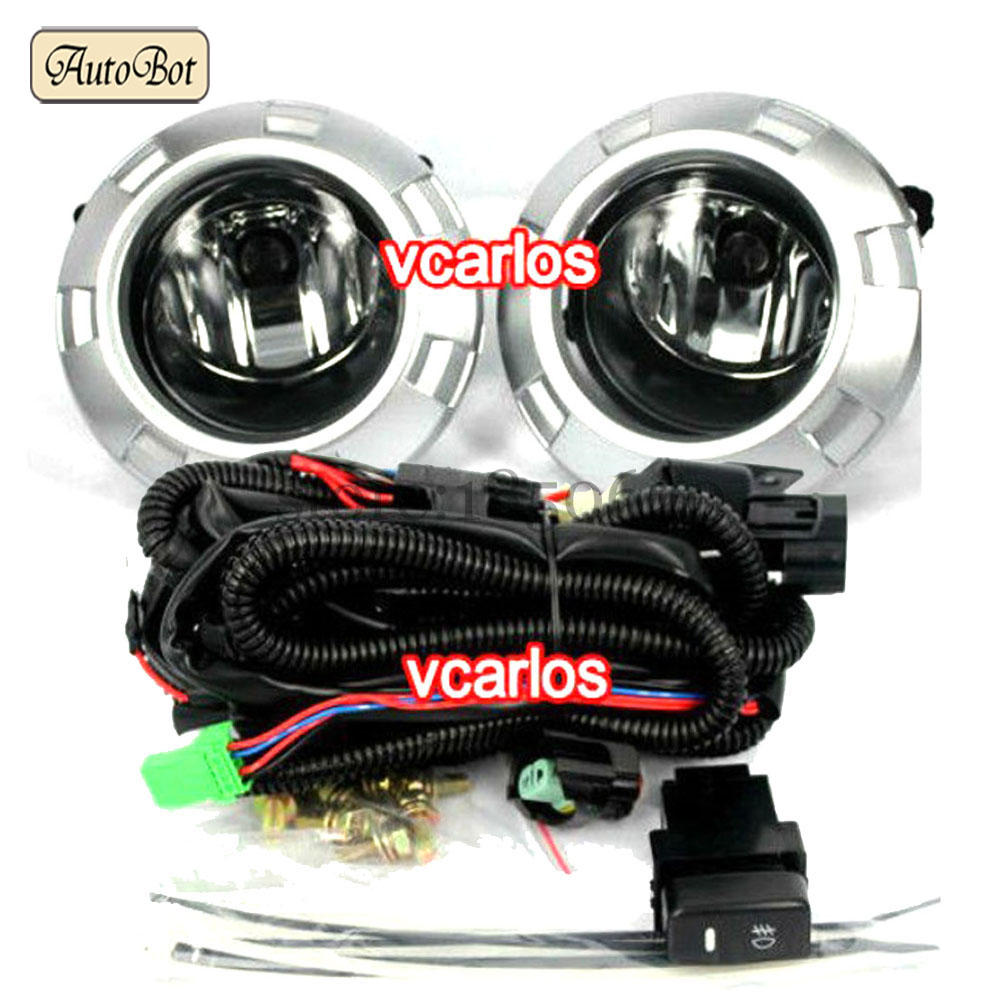Free Shipping Yellow Color Car Fog lights Lamp For MITSUBISHI PAJERO 2007~2009 Clear Lens Pair Set With Wiring Kit Fog Light Set(China (Mainland))