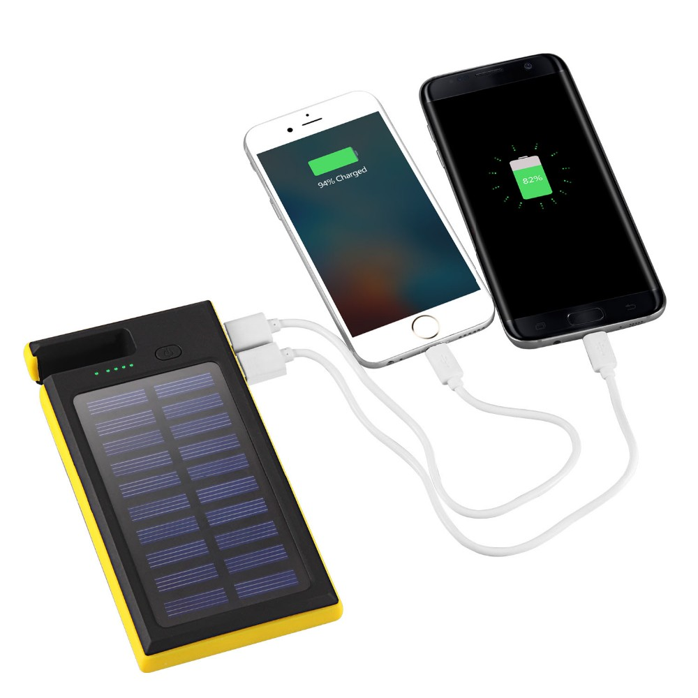 Newest 12000mAh Waterproof Solar Charger External Battery cargador portable Power bank LED Light for Smart Mobile Phone