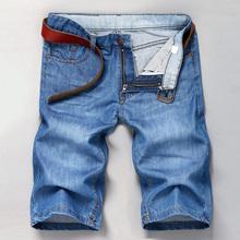2016 Men's Jeans Shorts Denim Lightweight Thin Blue Male Cotton Beach Summer Mens Short pants Trouser Cool masculino homme