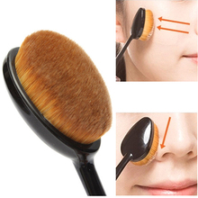 Cosmetic Oval Makeup Brush Make up Face Powder Blusher for Women Free Shipping(China (Mainland))