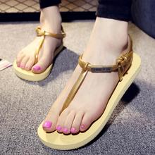 2016 New Summer Women Beach Hot Lightweight T-strap Thongs Flip-flop Sandal Slippers Non-slip Classic Roman Beach Shoes O697
