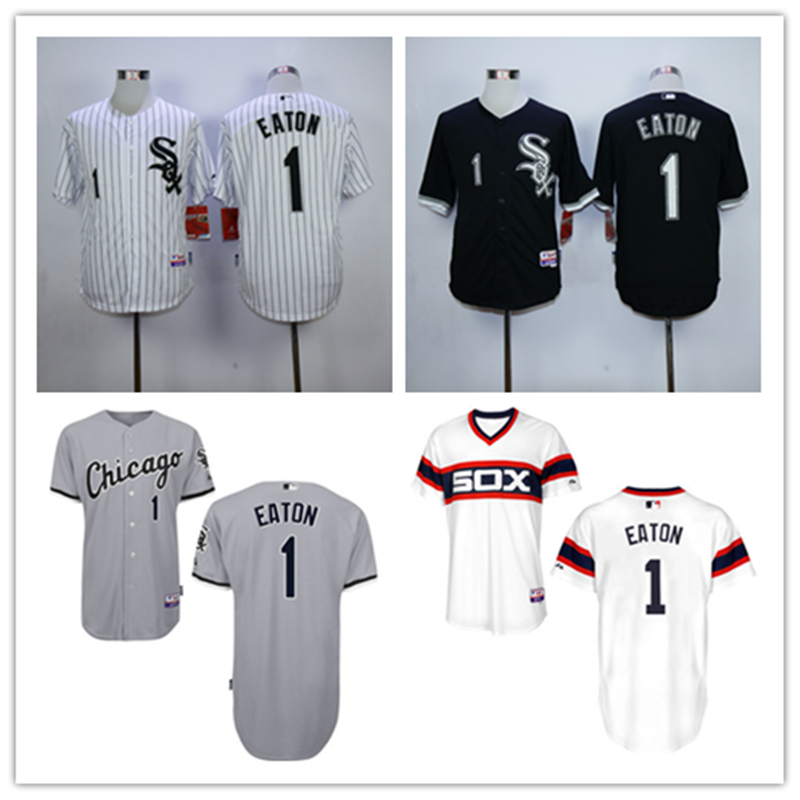 Free Shipping Cheap Embroidered Logo Stitched Custom Jersey Chicago White Sox Jersey 1 Adam Eaton Baseball Jerseys Cool Base<br><br>Aliexpress