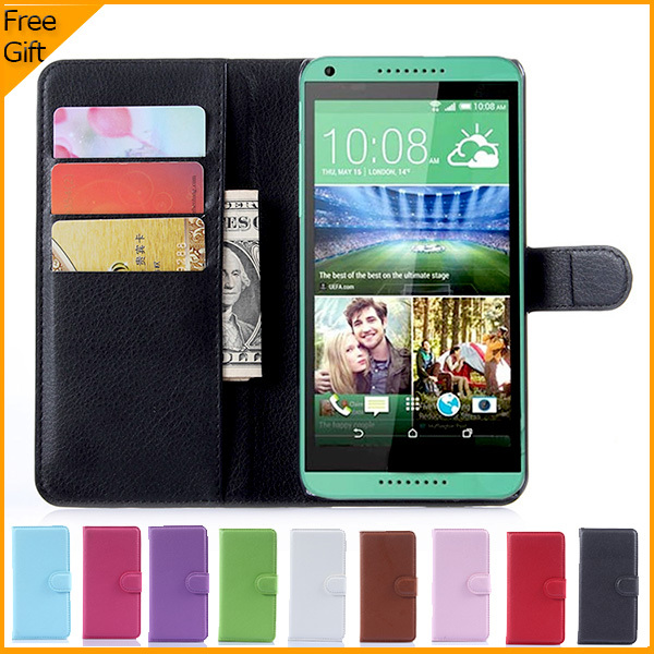 New Luxury Wallet Flip PU Leather Cell Phone Case Cover For HTC Desire 816 816G Dual Sim Case Shell Back Cover With Card Holder(China (Mainland))