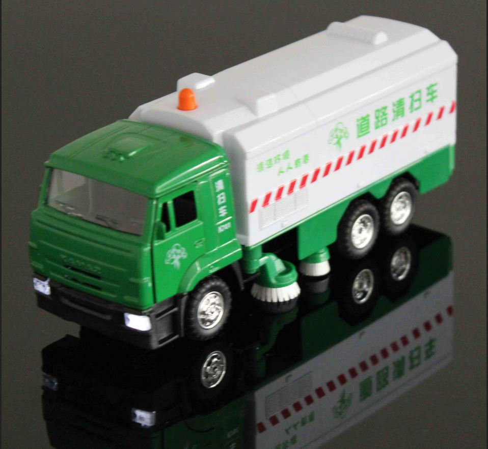 Brinquedos Alloy Front Road Sweeper Simulation Clean Car Toy Sound And Light Kids Toys(China (Mainland))