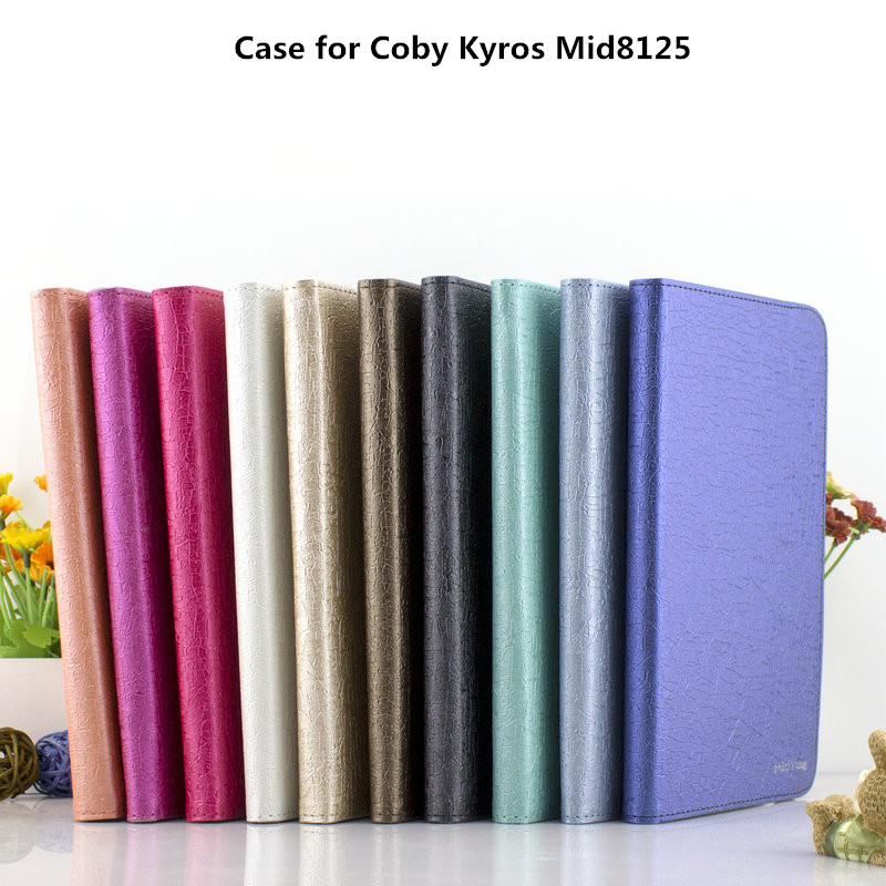Universal leather Stand tablet Case for Coby Kyros Mid8125 case cover(China (Mainland))