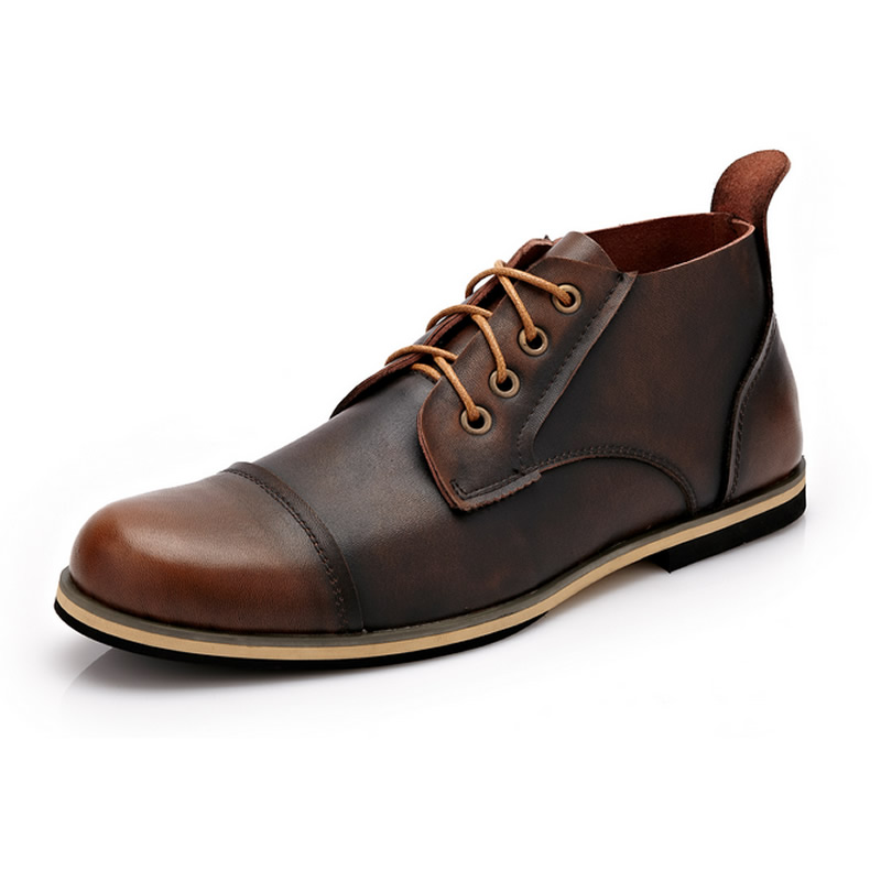 Гаджет  2015 New Handmade Genuine Leather men outdoor autumn winter boots, High Quality Winter men boots, ankle martin boots for men None Обувь