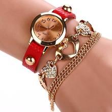 Leather Heart Luxury Wrist Watch Gold Women Dress Watch Designer Belts High Quality Relogio Feminino Marcas