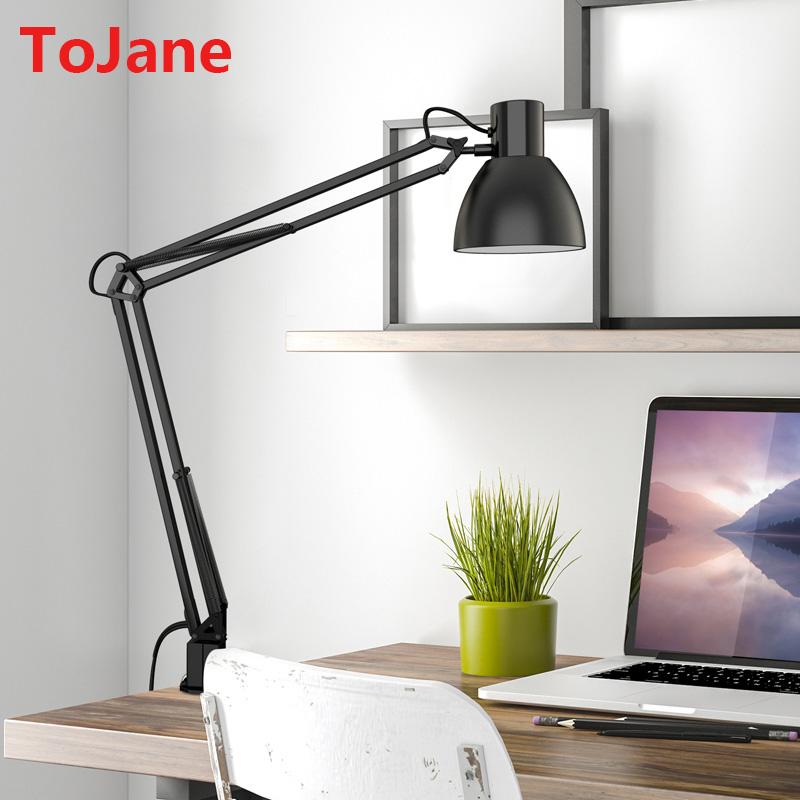 ToJane TG801-S Clip Desk Lamp Flexible Long Swing Arm Led Desk Lamp 6W Eye-Care Led Table Lamp Multi-Joint Led Reading Light(China (Mainland))