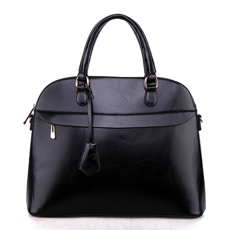 Women Retro Shell Bag New Fashion Patchwork Handbag Concise Plain PU Leather Bag Ladies Vintage Designer Shoulder Bag