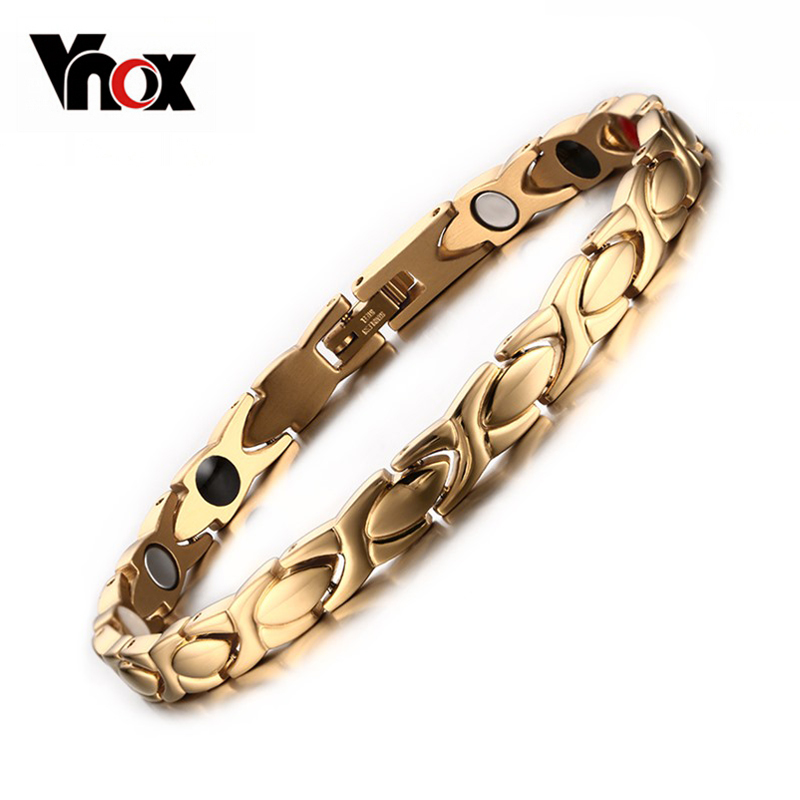High Quality Health Care Bracelet Bangle Negative Ion Germanium Stainless Steel Jewelry Gold Plated<br><br>Aliexpress