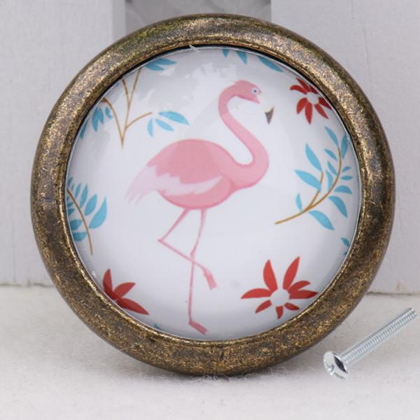 Flamingo Retro Door Dresser Drawer Cabinet Cupboard Pull Knob Handle Home Living Room Cabinet Decorations Furniture Hardware(China (Mainland))