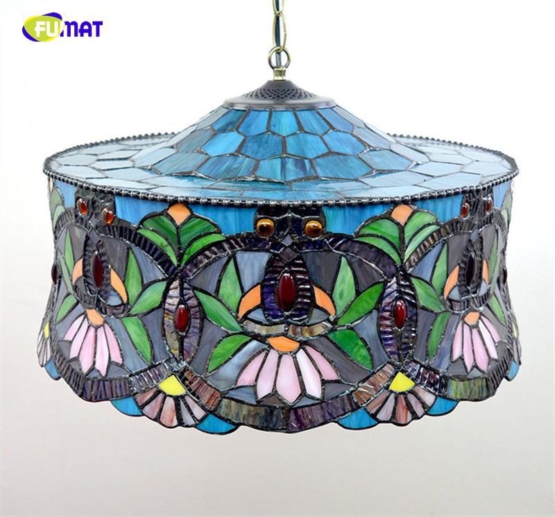 Купить Тиффани Витражи Лампы Европейский Европейский Стиль БАР Ресторан Подвеска Лампа Столовая Проекта Огни