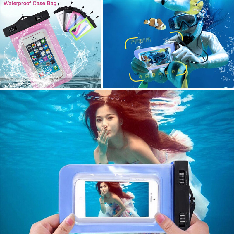 100% Sealed Waterproof Bag Case Pouch Phone Cases for iPhone 6/6 Plus/5S Samsung Galaxy S6/S5/S4/ Samsung Note 4/3/2 Most Phones(China (Mainland))