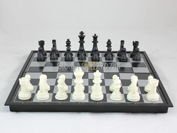 High quality 1 set draughts piece and 1 set chess piece and 1 chessboard box set L international chess set for gift(China (Mainland))