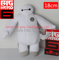 2015 Newest 1PCS 7'' 18cm Big hero 6 baymax plush ROBOT chrismas dolls OLaf Snowman stuffed animals plush baby doll toy