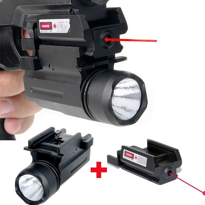 Red Dot Laser Sight Tactical LED Flashlight 2in1 Combo Hunting Accessories for Pistol Guns Glock 17,19,20,21,22,23,30,31,32(China (Mainland))