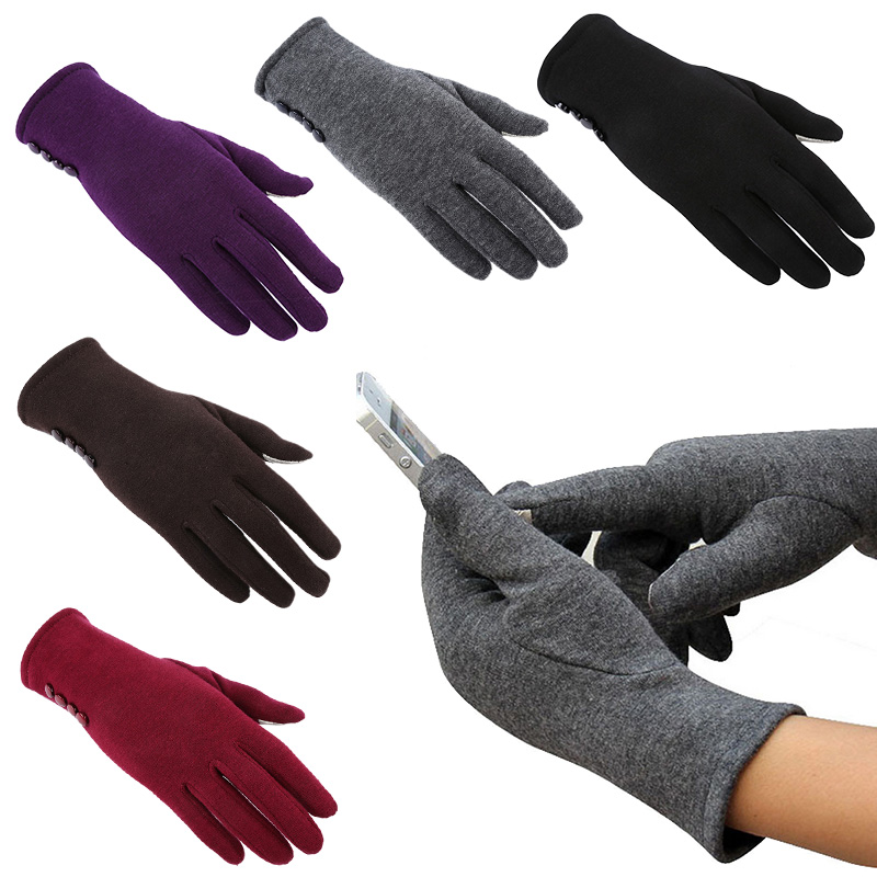 Touch Screen Gloves 5 Colors Fashion Women Outdoor Winter Warm Gloves Touch Screen Sport Ski Gloves Mittens W1(China (Mainland))