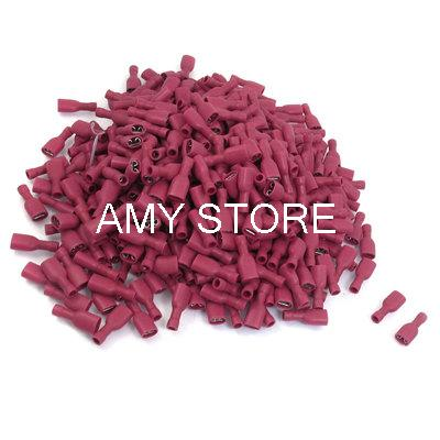 10A 22-16 AWG Red PVC Sleeve Crimp Terminal Connector FDFD1.25-250<br><br>Aliexpress