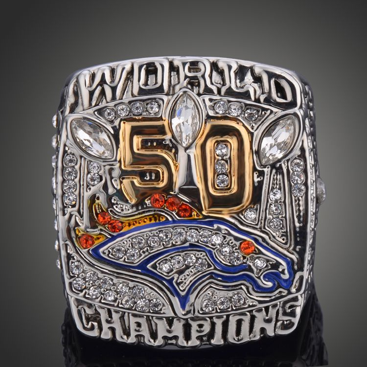 Custom Edition A+ Memorial Jewelry 2015 Denver Broncos NFL 50th Super Bowl Championship Rings For Men Fans 2017 Hot Collection(China (Mainland))