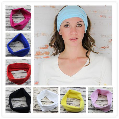 Sport Yoga Headband Bandana hijab Turban For Women Stretch Headwrap Soft Stretch Cotton Headband Turbante Hair Accessories 1PC(China (Mainland))